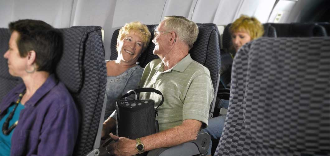 portable oxygen on plane trips